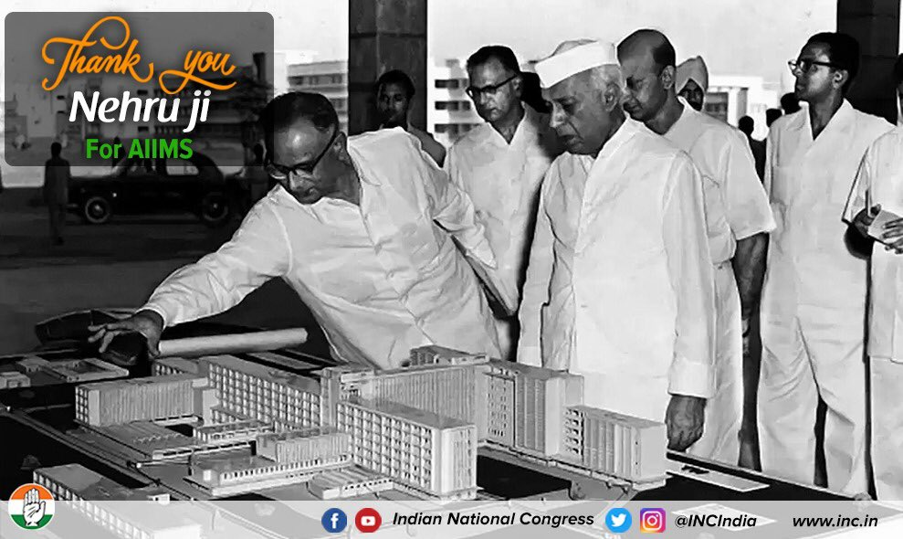 ▪️Planning commission ▪️ISRO ▪️AIIMS ▪️Bhakra Dam ▪️IITs ▪️IIMs ▪️Bhilai steel plant ▪️Aarey Milk Colony ▪️Rail & Structural Mill, Bhilai ▪️Gujarat Refinery ▪️Bhabha Atomic reactor  The list is endless! #IndiaThanksNehruji  #JawaharlalNehru https://t.co/7dFbFALnJF