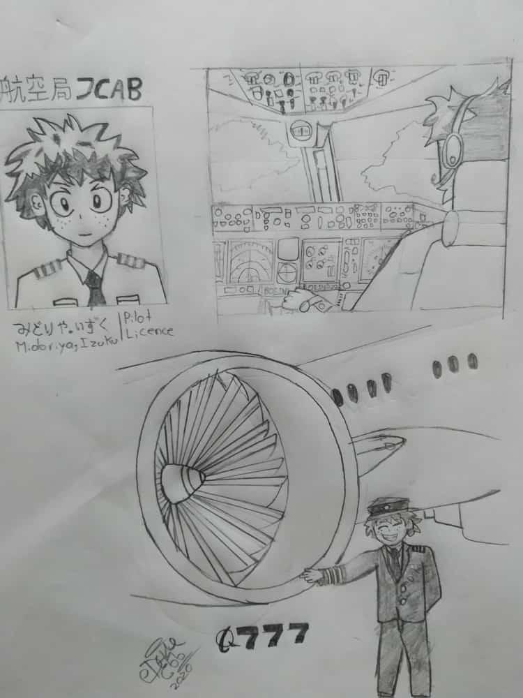 I was thinking if izuku was a pilot (as i'm studying) so i draw an Izuku Midoriya Pilot, and there is it, probably i'll upload more drawings  #Izuku #MHA #mha #Boeing pic.twitter.com/W5yBxVREMi