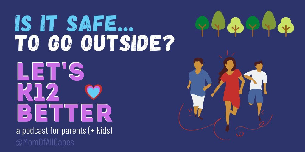 It's warm and everyone seems eager to enjoy the great outdoors. BUT Is it safe? We discussed whether we think it safe to be outside. (This discussion includes dialogue about Ahmaud Arbey the runner slain in February.) letsk12better.buzzsprout.com/1036873/376453… #letsk12better #COVID #Parents