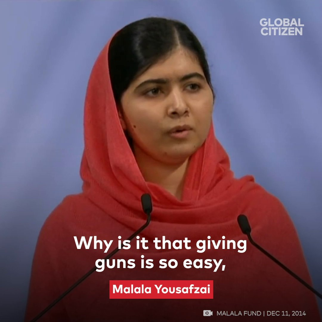 'Why is it that giving guns is so easy but giving books is so hard?' @Malala Yousafzai is asking the real questions.