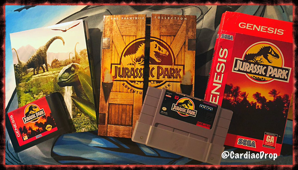 Jurassic Sized gaming for the long running franchise... #JurassicPark Original on Genesis and SNES were 2 totally different games, one a frantic platformer, one top down view, worthy for any fan & worth  playing ... 🎮 #RETROGAMING 🦖 https://t.co/Xu4aM9bN4D