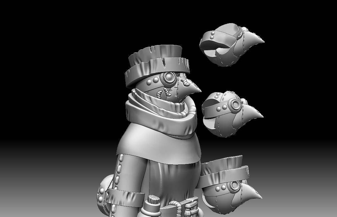 Some work in progress for the next set of plague and pestilence - possessed surgeons! Updates soon on Madcap's patreon corner.   #3d #3Dprinting #miniatures #tabletopgames #zbrush #miniature #patreon #3dmodeling #demons