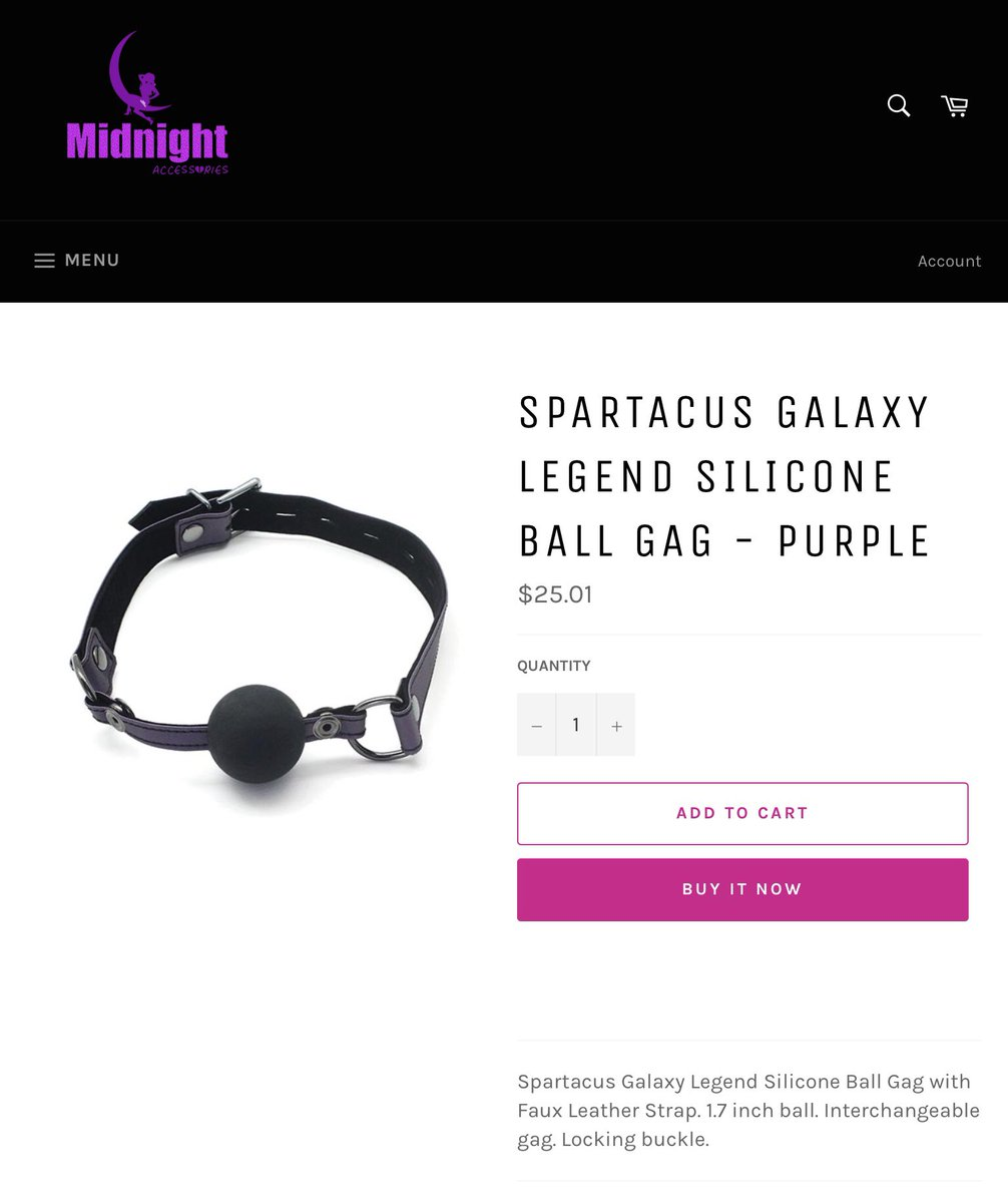 Gag on this! #midnightaccessories #bdsmrelationship #couples #gag #spartacus #sexpositive #adultstore #safetyfirst #supportsmallbusiness #coloradosmallbusiness pic.twitter.com/C2aKuw3pYM