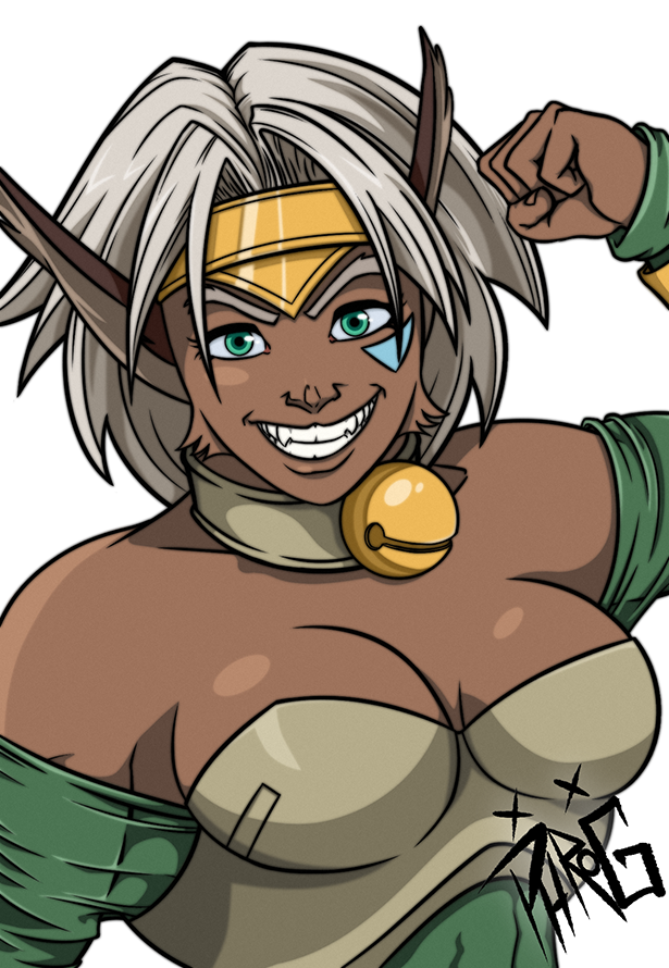 Aisha Clan-Clan was a blast to draw and color, even if I was attempting to color it a little outside of my traditional style. Thanks to those of you who voted for her out of my original Six Fanarts. I hope you all enjoy it!  #SixFanartsChallenge #outlawstar #Aisha #animewaifu pic.twitter.com/QDOosiIgFA