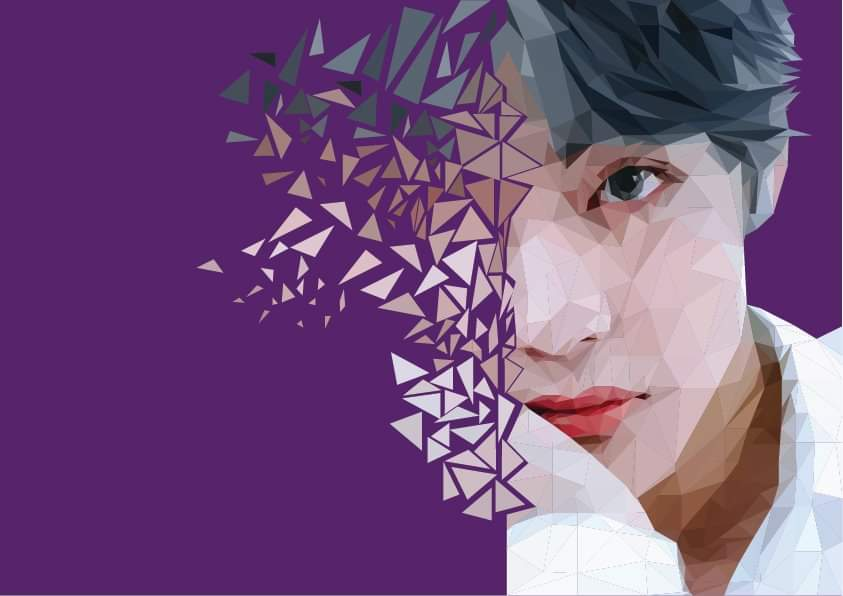 Trying to use Adobe Illustrator for the first time with this baby boy 😘 #BTSV #TAEHYUNG #btsfanart