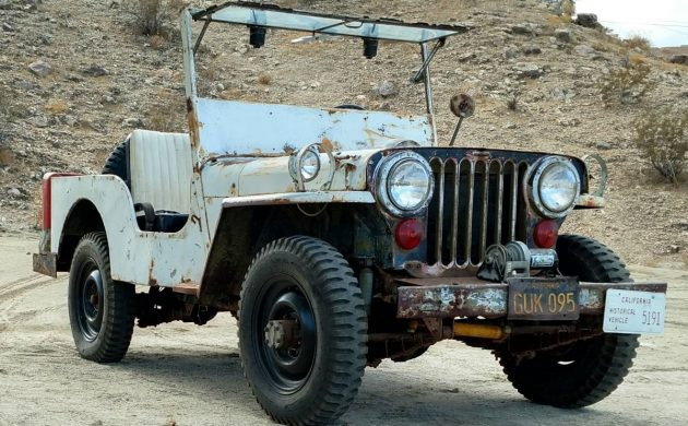 This Willys Jeep is a bit of a mystery. It is titled as 1950, but the seller thinks it might be from the mid-40s. What do you think? -> barnfinds.com/mystery-year-w… #WillysJeep