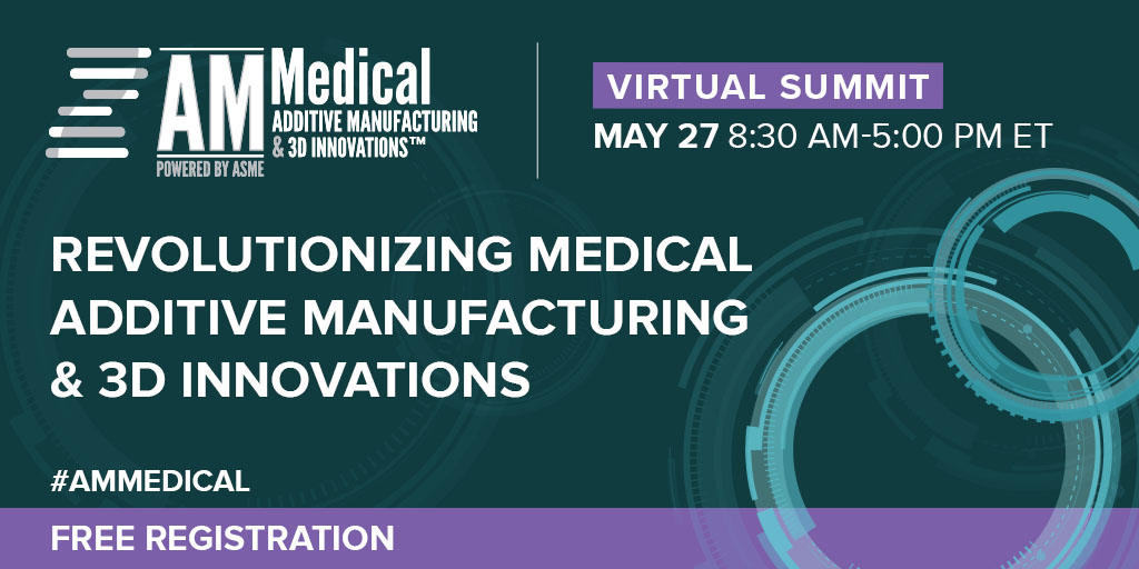 There's still time to join us tomorrow for the #AMMedical Virtual Summit! You'll hear from groundbreaking experts in the #3Dprinting and medical fields, network with peers, and more. And...it's free! Sign up now: