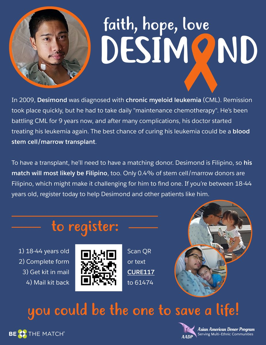 Help Desimond #beatcancer! Please send your good thoughts and prayers his way. And register to save his life at  #Faith #Hope #Love #Desimond