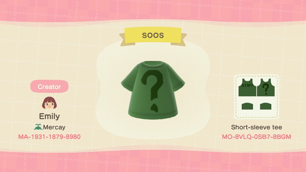 Soos' shirt and Dipper's hat from Gravity Falls! #AnimalCrossing #ACNH #NintendoSwitchpic.twitter.com/NIhinRbonX