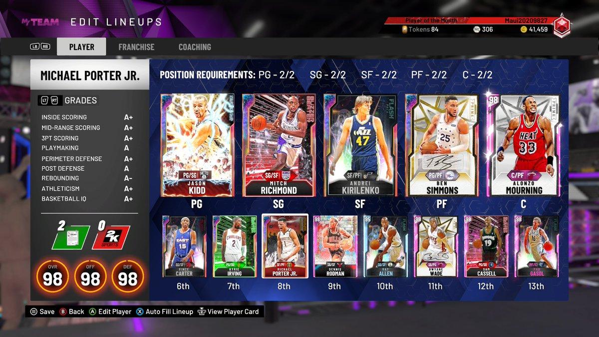 #NBA2K20 Had to upgrade my lineup<br>http://pic.twitter.com/PkXnUvUa8x