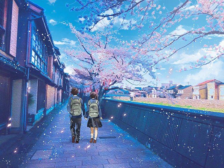 【炭カナ】桜🌸と制服とお散歩絵