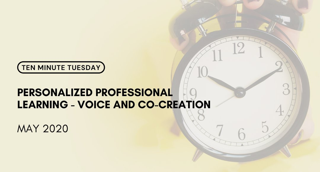 Join @thelearningloop for the latest #EP21 10 Minute Tuesday: Personalized Professional Learning - Voice and Co-Creation!  ➡️ https://t.co/qC1XoTrK5J ⬅️  #10MT #EdChat #PersonalizedProfessionalLearning https://t.co/iC5JLm2TV4