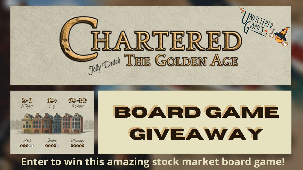 Excited for a chance to win Chartered: The Golden Age! @unfilteredrng #Giveaway #boardgame pic.twitter.com/Q6xDOyncKw http://unfilteredgamer.com/board-game-giveaways/…