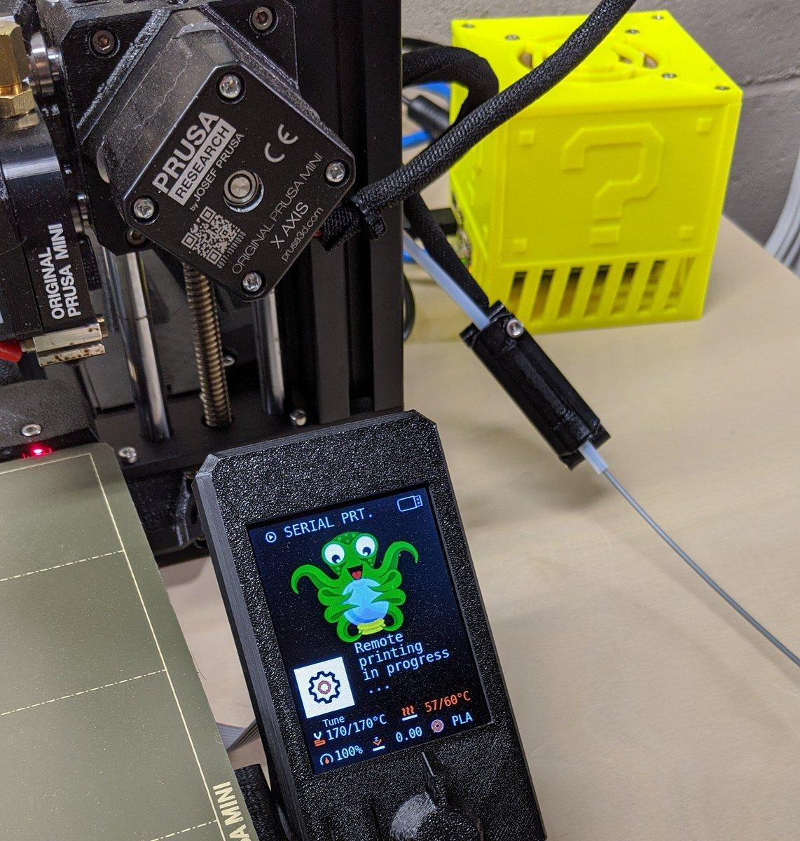 Prusa Mini officially Octofi'd  #prusa3d #octiprint #octopi #RaspberryPi #pi4 #prusamini #3dp #3dprinter #3dprinting #maker