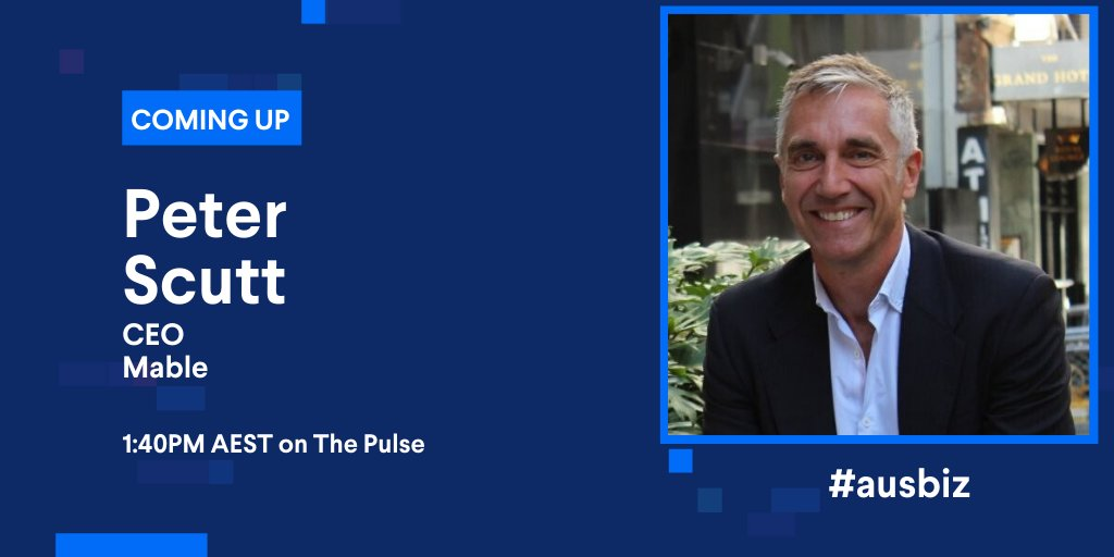 It's been a big few months for @Mable_Australia securing $15 million in their latest equity raise and a partnership with the Government just this April. CEO Peter Scutt will be talking innovation and how they did it.   Live on #ThePulse: https://t.co/z6o7vzlLQ3 https://t.co/LZHFqnZ9Ad
