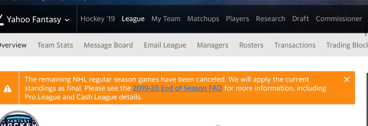 All leagues will now show this. twitter.com/FantasyHockeyG…