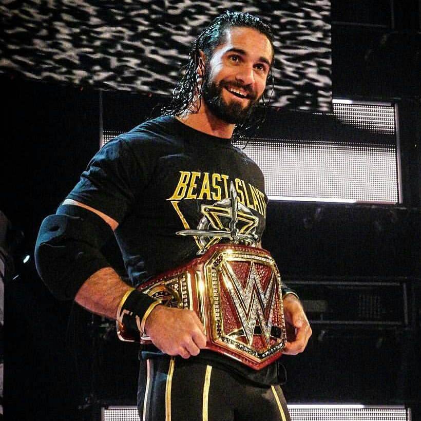 #NewProfilePic @WWERollins on last year's #RAWafterMania, when he finally became #TheNew @WWE #UniversalChampion. He looked so happy and Proud. Love U The Most Seth, #MyIdol.😍😍😘😘❤❤ https://t.co/bfHYYieYI7