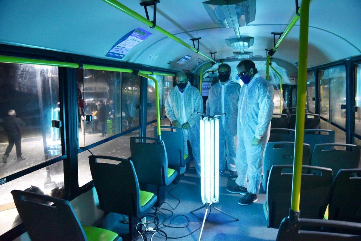 👉 #LaPlata | Garro, entre luces ultravioletas y un sistema para detectar el coronavirus en los colectivos. 👇 https://t.co/MnImmhiboG https://t.co/YeYjZ3XvGS