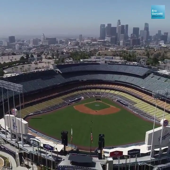 Our new COVID-19 testing site at Dodger Stadium will allow us to test up to 6,000 people per day quickly and efficiently. Tests are free and no insurance is needed. Sign up for a test today: Coronavirus.LACity.org/Testing.