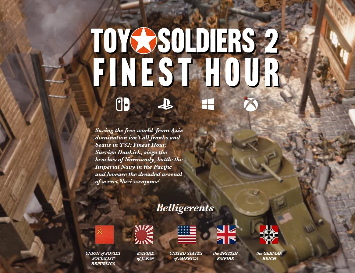 Τα Toy Soldiers HD, Toy Soldiers: Cold War HD και Toy Soldiers 2: Finest Hour έρχονται στο Switch!