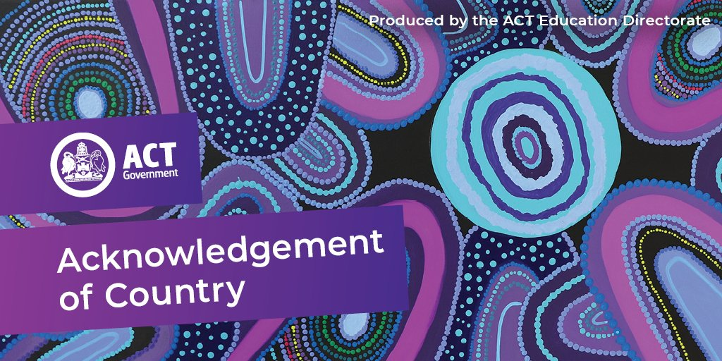 The Education Directorate acknowledges the Ngunnawal Peoples as the Traditional custodians of the ACT and region upon which we live, learn and work. https://t.co/W7w8haSqXt