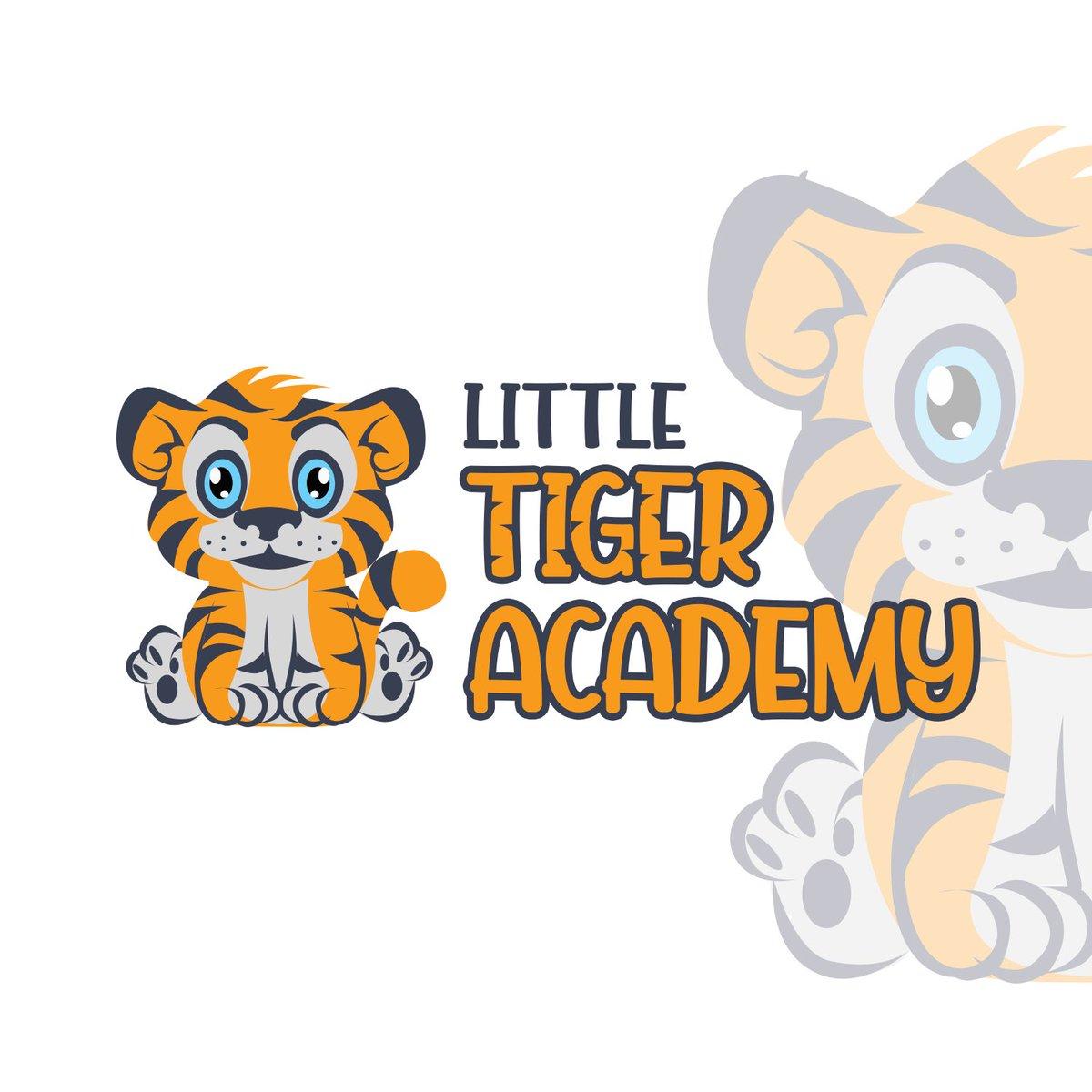 Illustration logo for Little tiger Academy. #LogoDesign #logoservice
