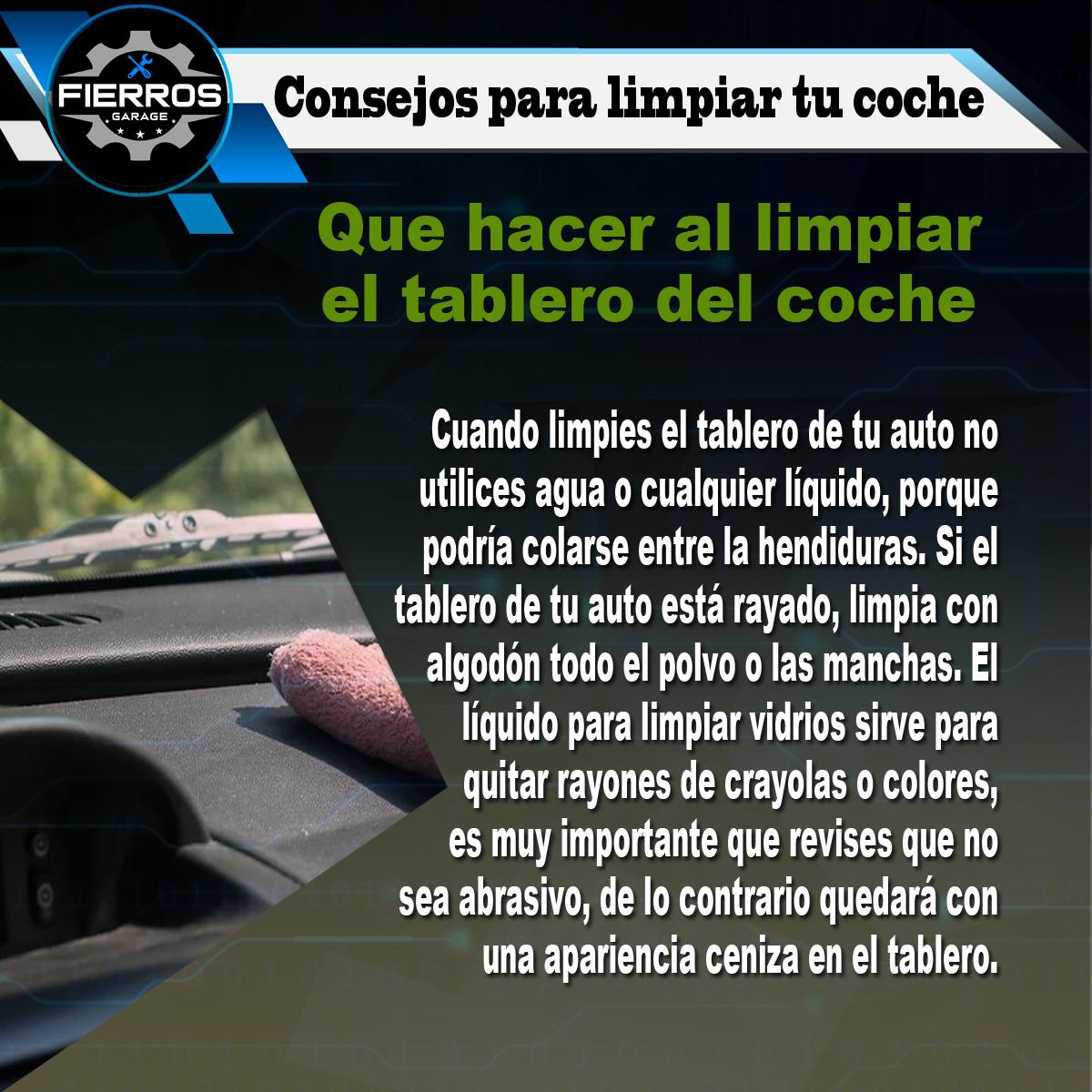 #FierrosGarage #Consejos para limpiar tu coche pic.twitter.com/ybTrwpWLvD
