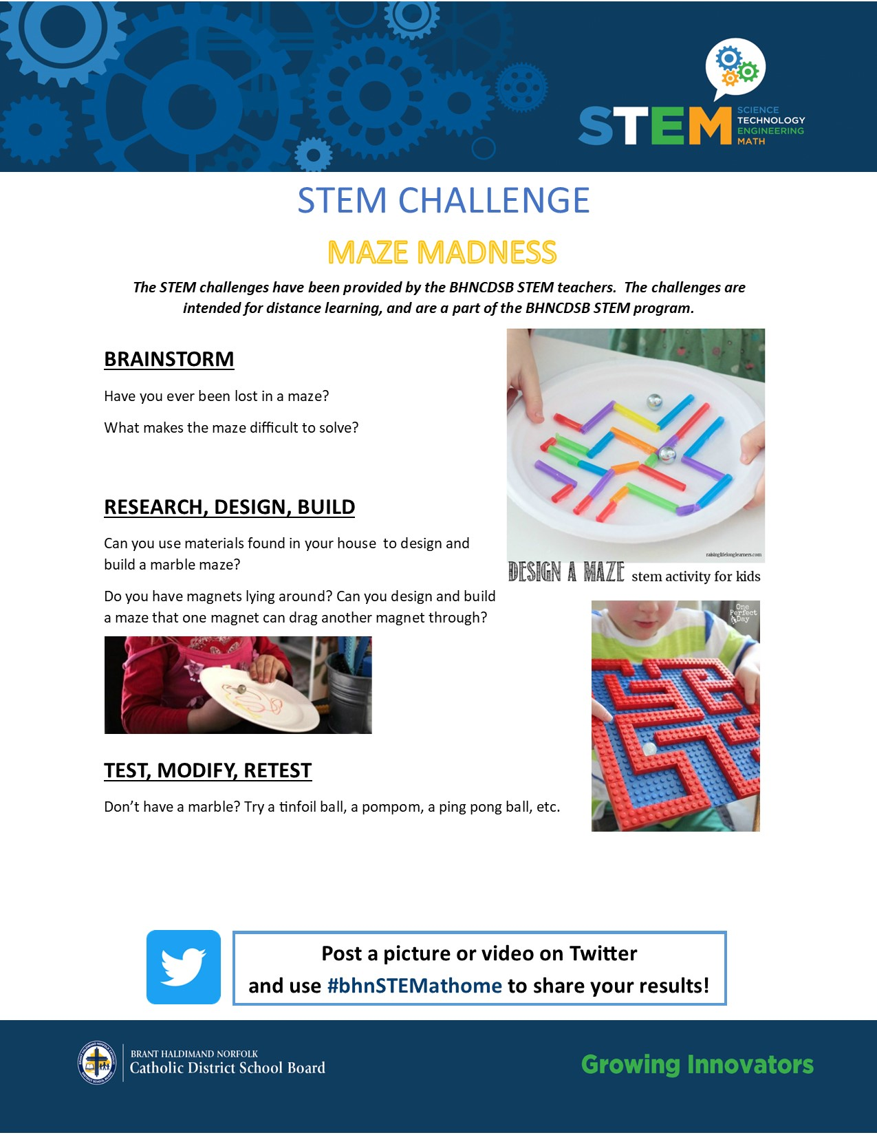 Bhn Stem On Twitter Stem Challenge 35 Ok Stemmers Let S Have Fun With Mazes Can You Build A Marble Maze Https T Co L2ghbgg2ay Or How About A Magnetic Maze Https T Co 5iysnuv5an Share A Photo Or