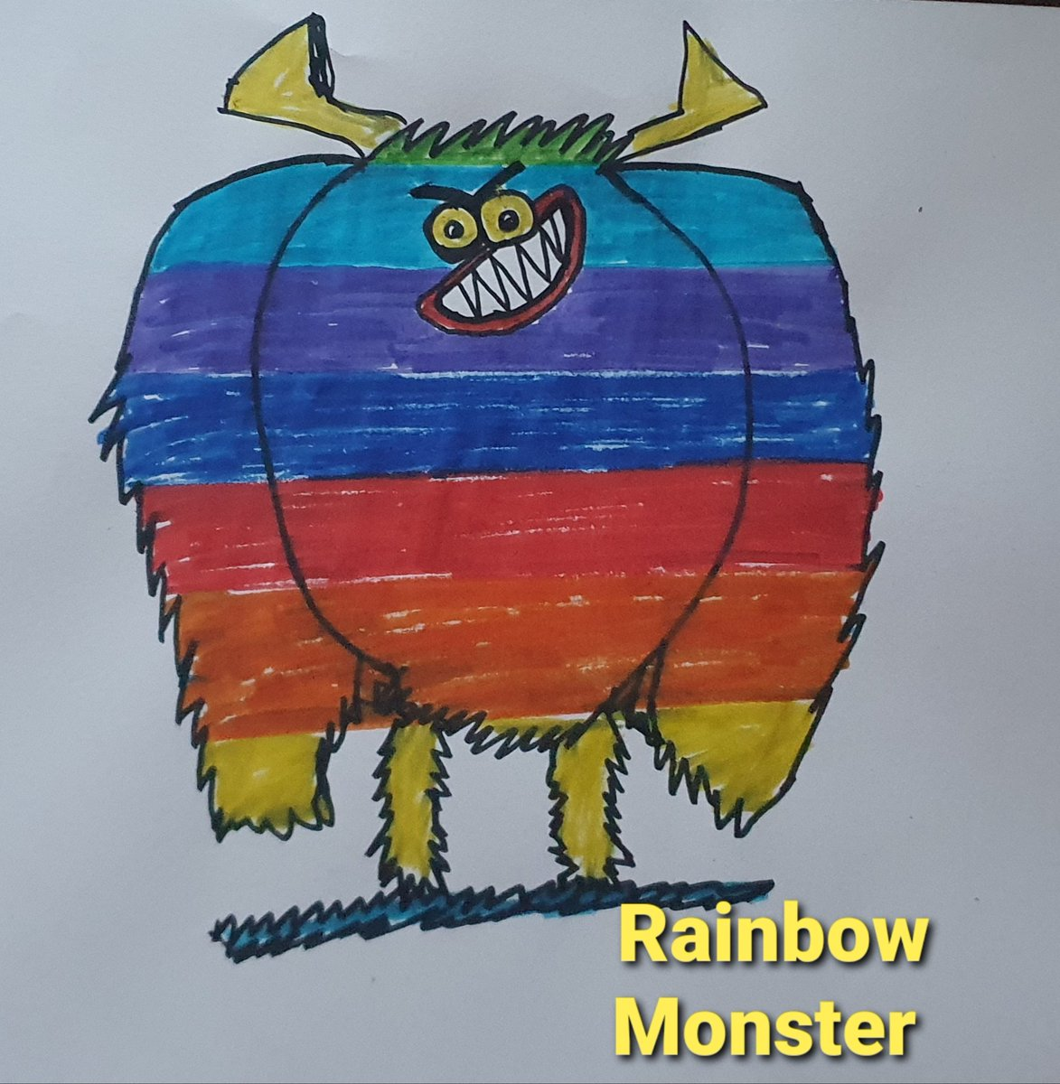 @RobBiddulph Mummy's Rainbow Monster Daughter's COVID-19 one eyed Monster🌈👍🌈