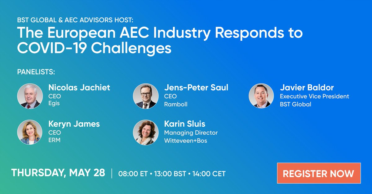 test Twitter Media - How 4 CEOs of Leading European AEC Firms Are Responding to COVID-19 Challenges. Join in Thursday 28 May, 2020  https://t.co/hdeojlT0hj https://t.co/HE7NlpXf7d