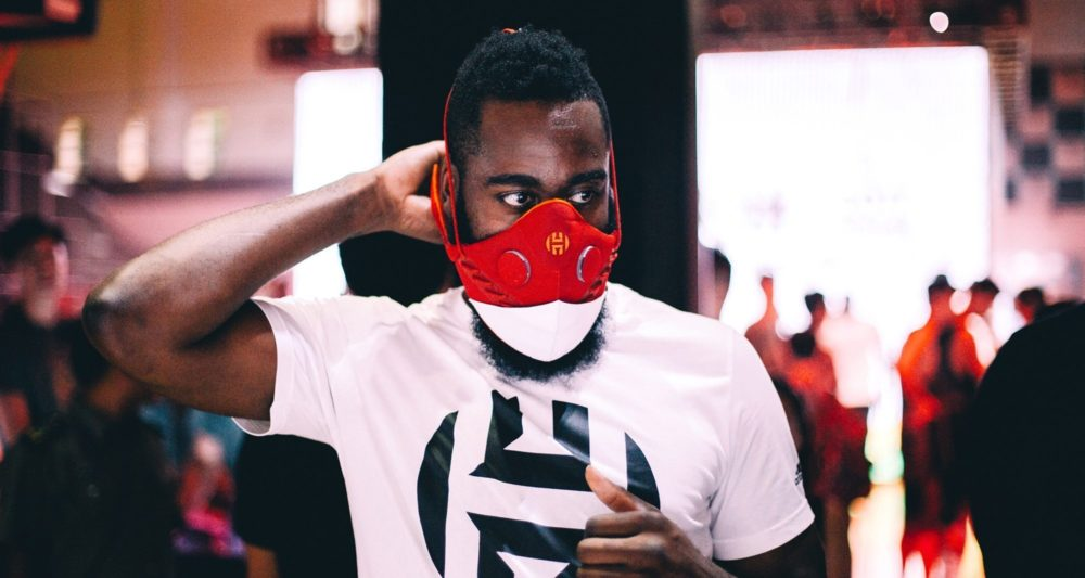 Your daily reminder that @JHarden13 is always one step(back) ahead of the game. #MaskUp