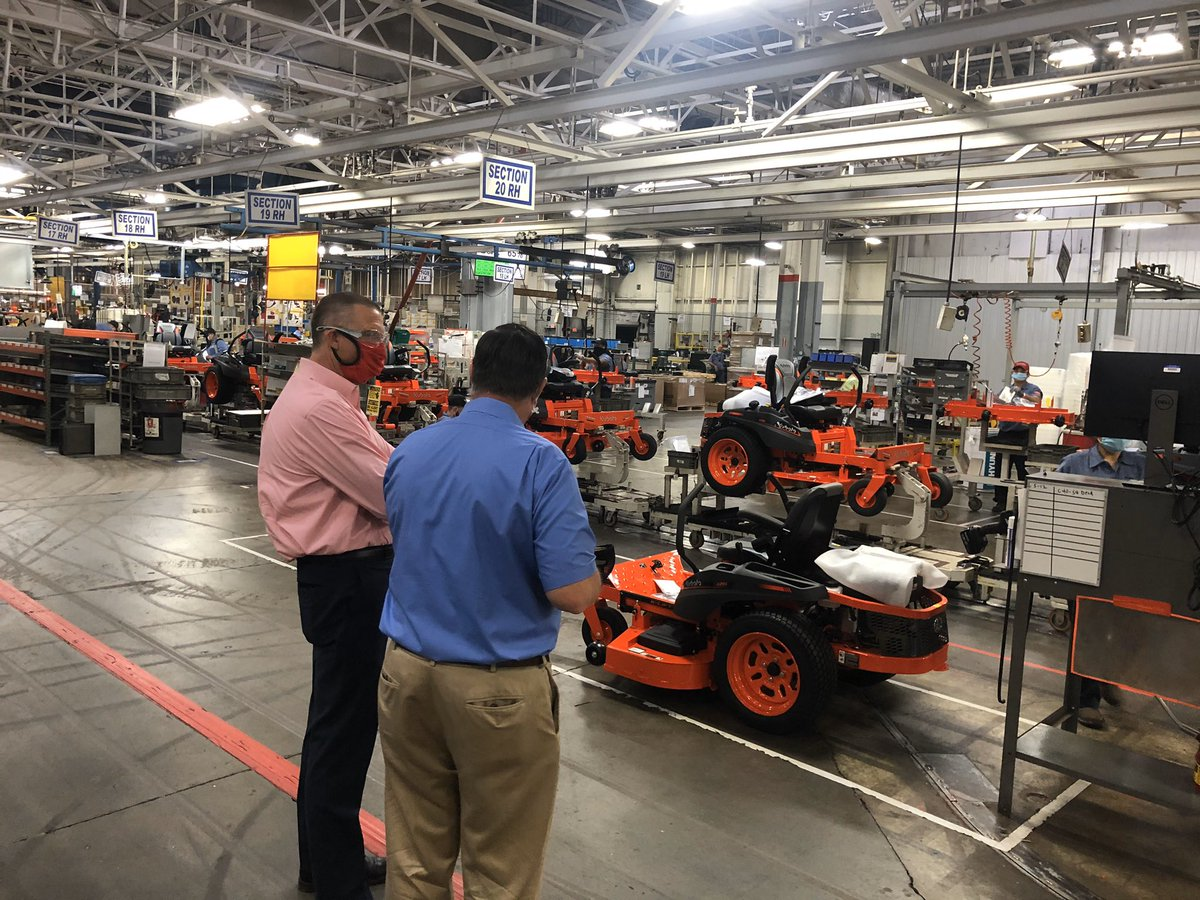From our farmers to our grocery store workers, every aspect of our food supply chain is working overtime to continue putting food on our tables right now, and Kubota is a critical component of that effort. Their Georgia-made product supports our farmers each and every day.