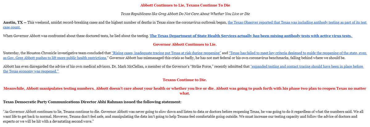 .@GovAbbott continues to lie, Texans continue to die. texasdemocrats.org/media/abbott-c…