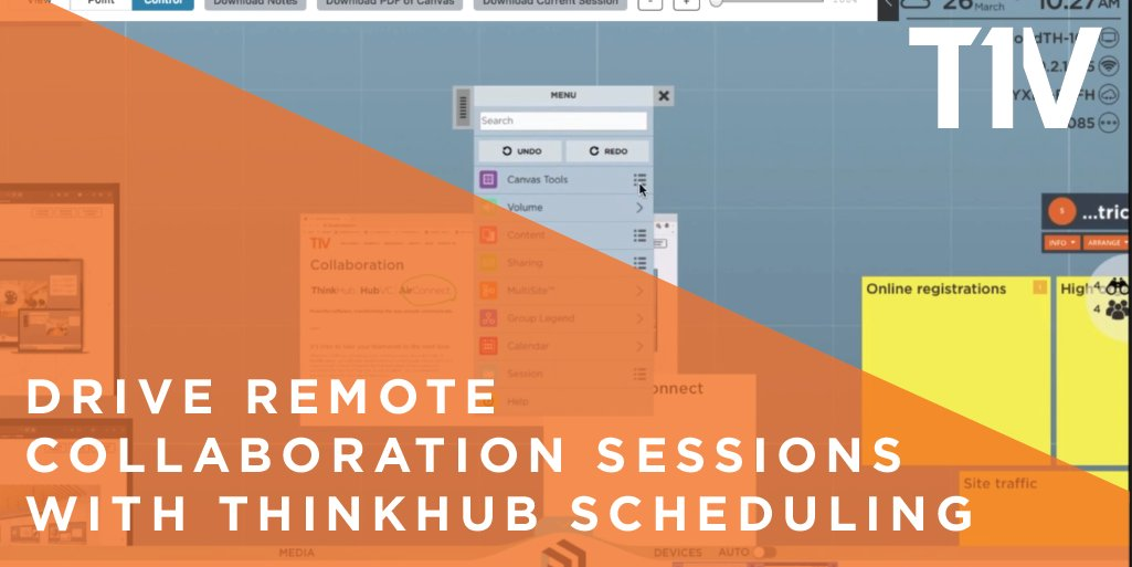 RT @T1V_Interactive ThinkHub Scheduling is our newest feature update to #ThinkHub, which makes it possible to host ThinkHub sessions remotely - no one needs to launch the session from the physical touchscreen. Read more here: https://t.co/n3Zn4ryInm #collaboration #remote #COVID19 #WFH #blog