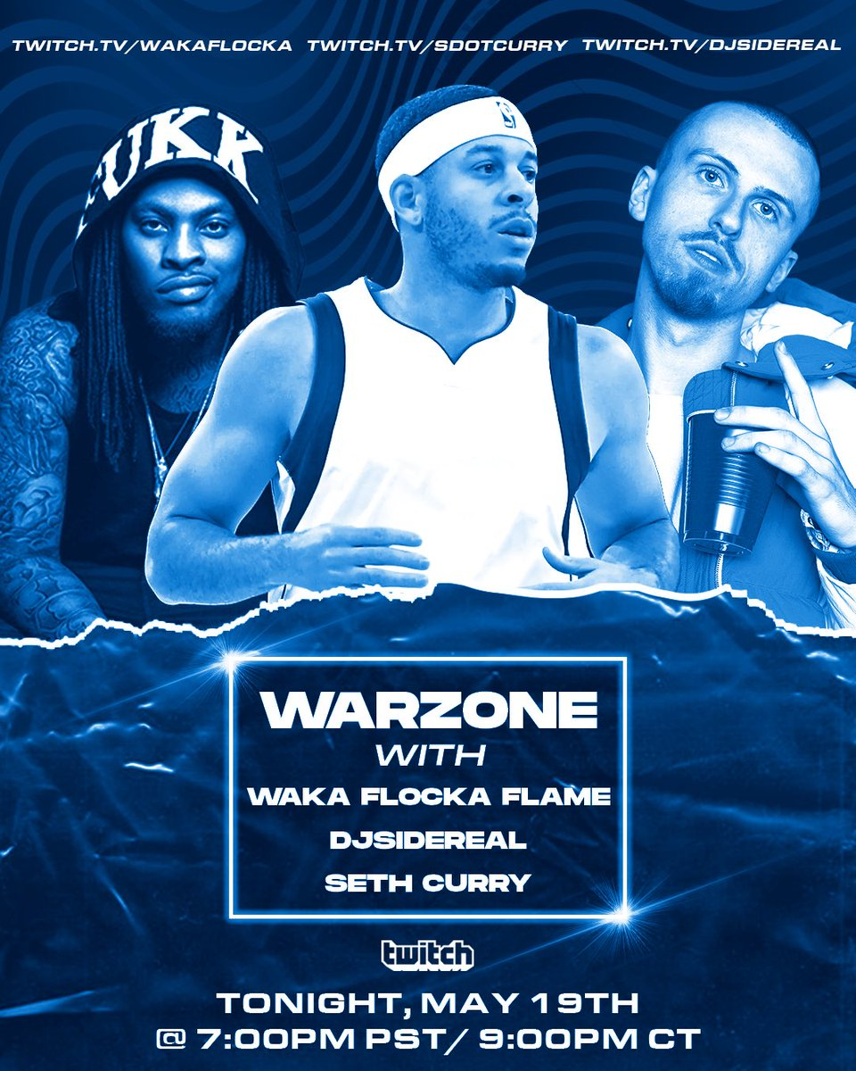 #CallOfDuty #Warzone 2Night 🎮🔥 w/ @sdotcurry nd @DJSIDEREAL pull up on @Twitch #gaming