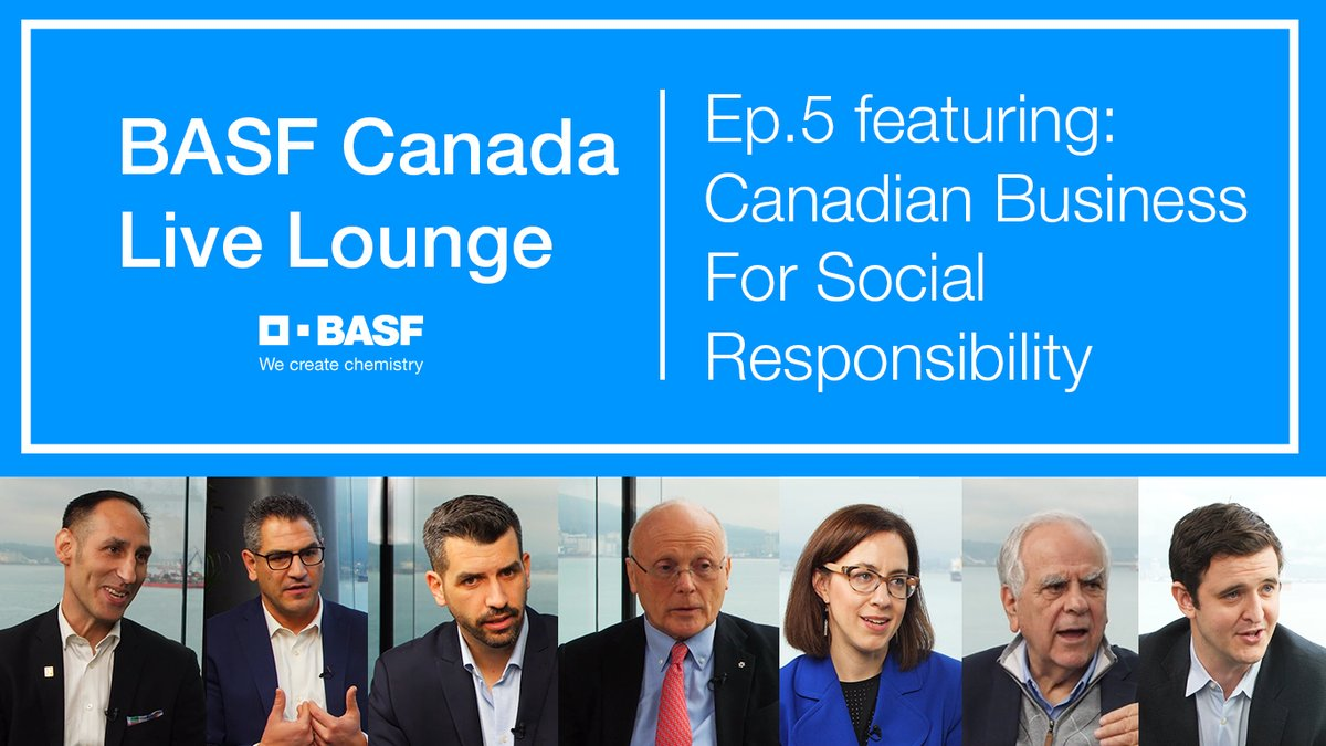 BASF Canada's Live Lounge is back! Here's episode 5 with @PlanetLeor talking about how @CBSRnews & @DIG_Canada are working with Canadian businesses to become socially responsible and contribute to #sustainability. Check it here--> https://t.co/kbaxsaS6qV https://t.co/xE5emqKmPO