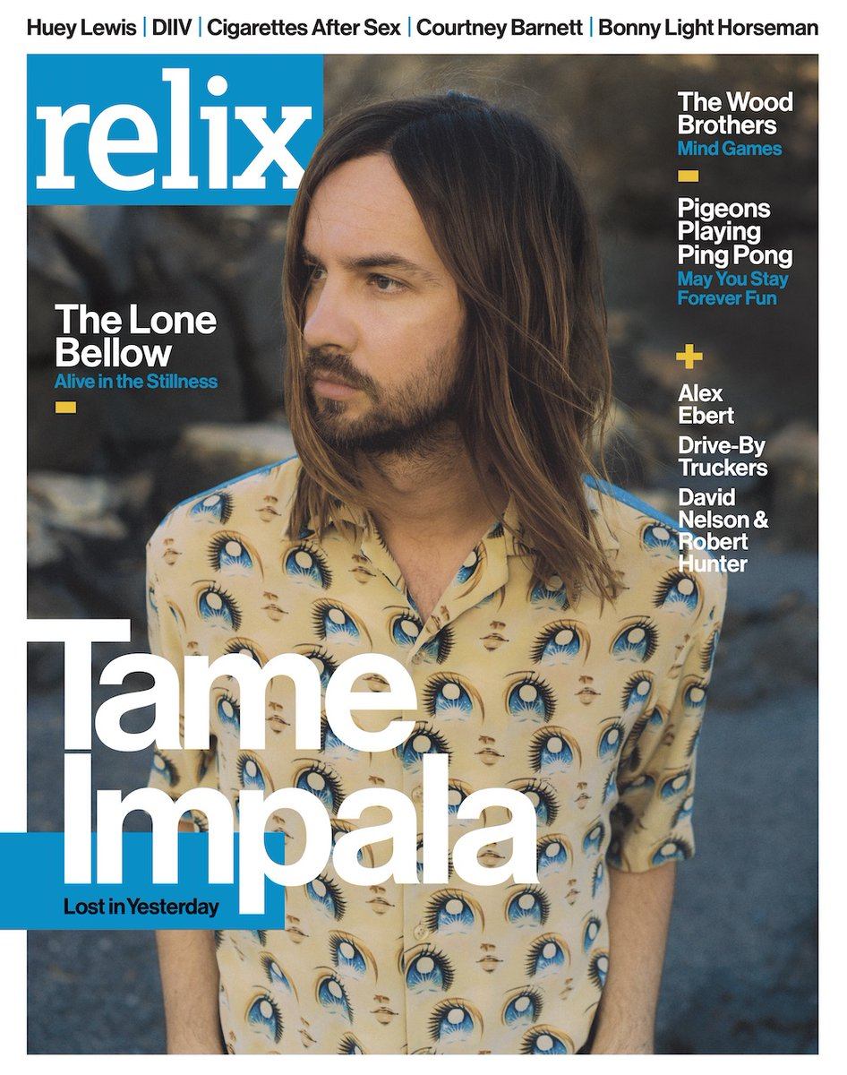 Tame Impala is on the cover of Relixs April 2020 issue 👏✨ read the full article here: relix.com/articles/detai…