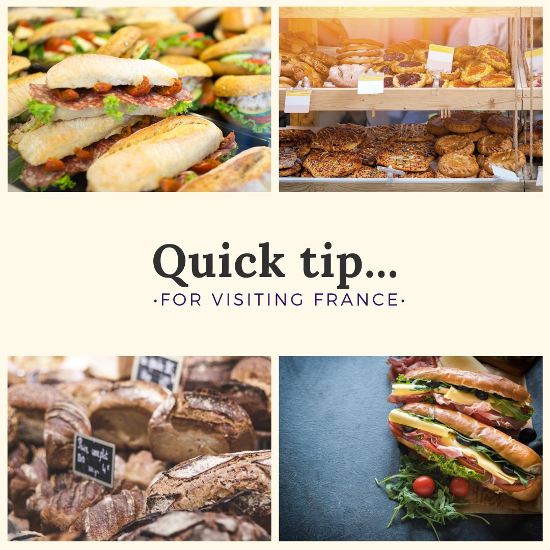 Today's quick tip is for your next visit to France. Instead of eating lunch at an expensive restaurant, pop into one of the myriad boulangeries. Pick up a baguette sandwich to eat with whatever view you want!  #quicktips #france #food #baguettes #cheapeats #maggietravelspic.twitter.com/h7ouipcFHc