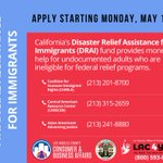 Image for the Tweet beginning: California is providing #disasterrelief for