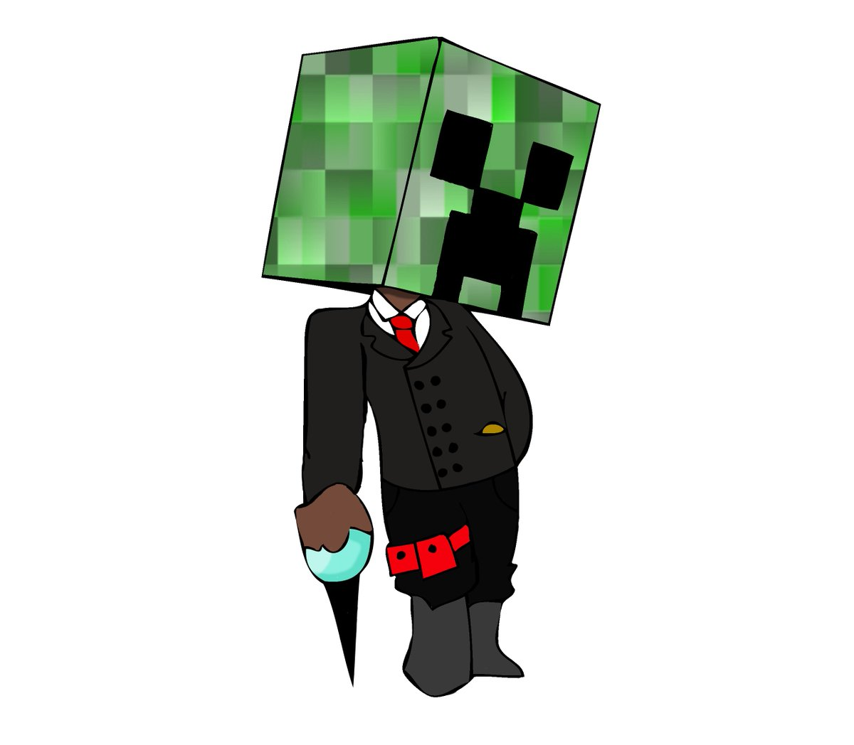 An old drawing of my boy Mr. Creeper Jr. looking sexy and ready for an adventure.  #Minecraft #minecraftcreeper #Minecraft坂道コンテスト #MrCreeperJrpic.twitter.com/JHEqycXPuF