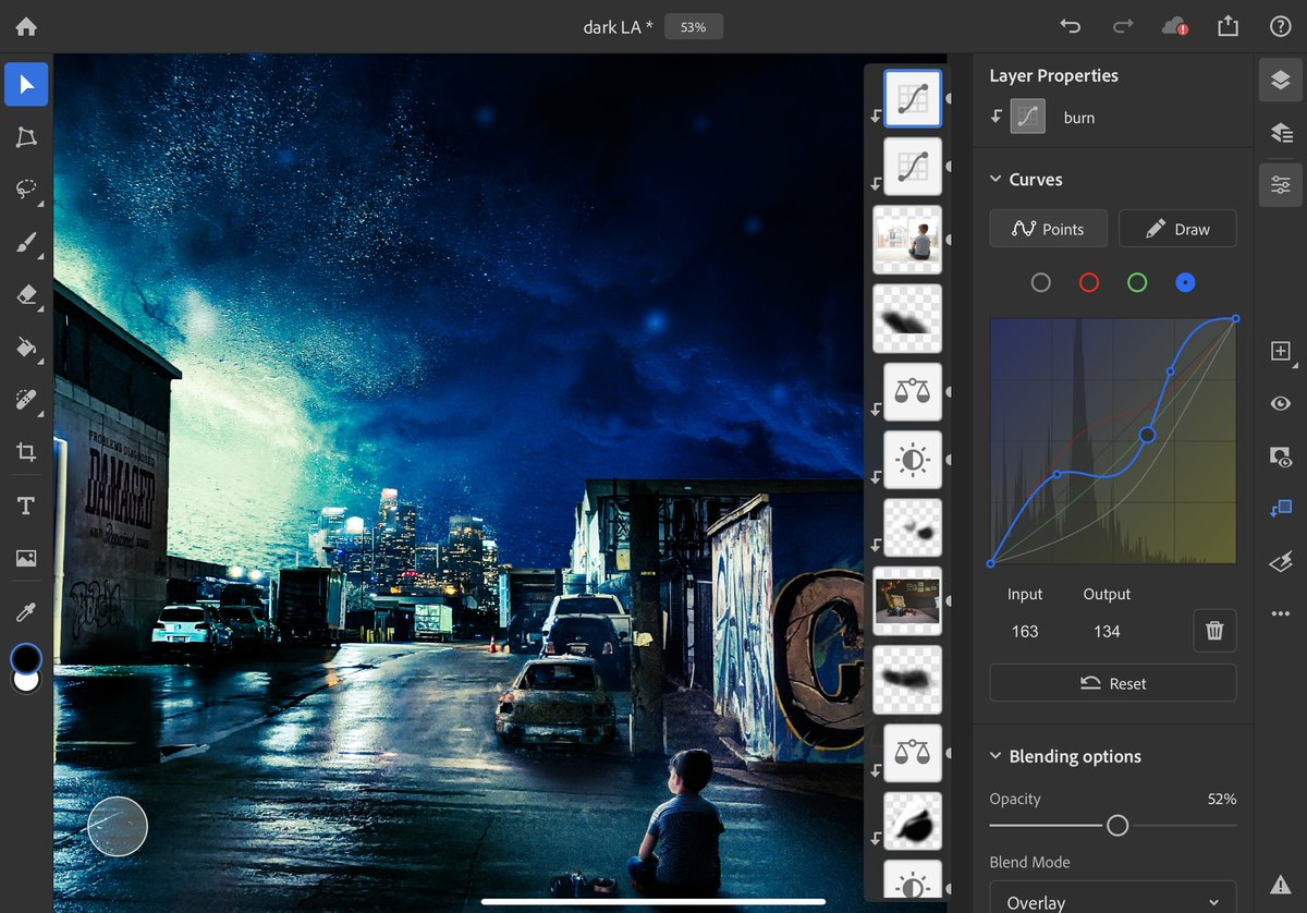 Photoshop for iPad gets curves and Apple Pencil improvements