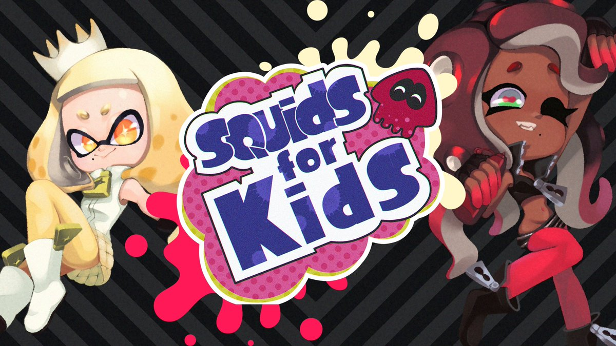 Soon...  Squids 4 Kids makes returns during the Ketchup vs Mayo Splatfest!  This will be a 30-hour livestream event where I'll be joined by 55 Splatoon creators!  All donations go to @ExtraLife4Kids benefiting children's hospitals.  See you there!  Booyah!   (Art by @ElaDraws)
