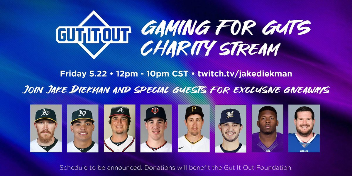 FRIDAY IT'S GOING DOWN 👾 Join me and my dudes for a 10 HR LIVE STREAM benefitting the @gutitoutfdn! Exclusive giveaways for those who donate, including a grand prize you don't want to miss! Let's raise some money for Crohn's and ulcerative colitis research and support! #gutitout https://t.co/5Zf24PhPT4