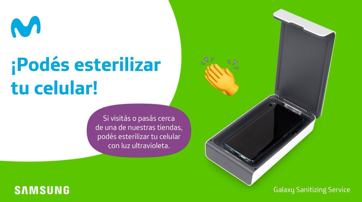 La seguridad de nuestros empleados y clientes es primordial, por eso ponemos a disposición el Galaxy Sanitizing Service de @SamsungLatin. Podrás esterilizar tu celular de cualquier impureza sin dañarlo.  Teléfono móvil  Estará disponible en tiendas seleccionadas. #ElegíProtegerte https://t.co/2r9PTEE82k