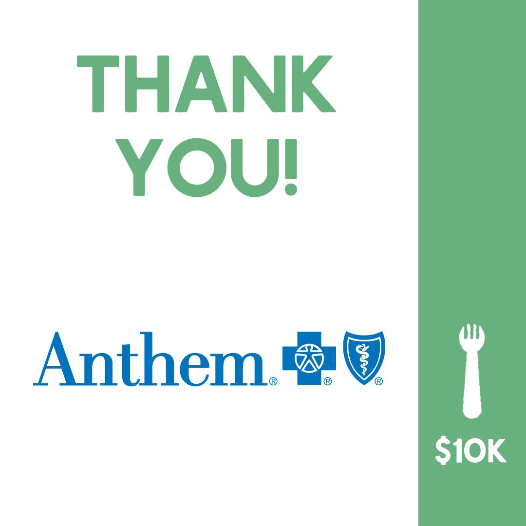 @AnthemInc recently announced a $10,000 donation in support of Nourish Lexingtons efforts to feed our hungry neighbors during the current COVID-19 crisis! Thank you Anthem!