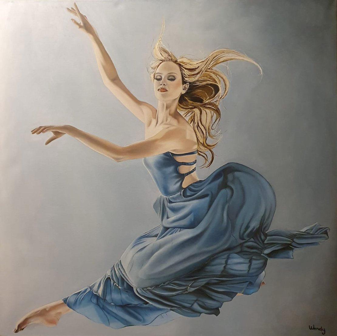 Oil on Canvas; 36 x 36 inches (92 x 92cm); Model: The gorgeous dancer Brayley Willits
