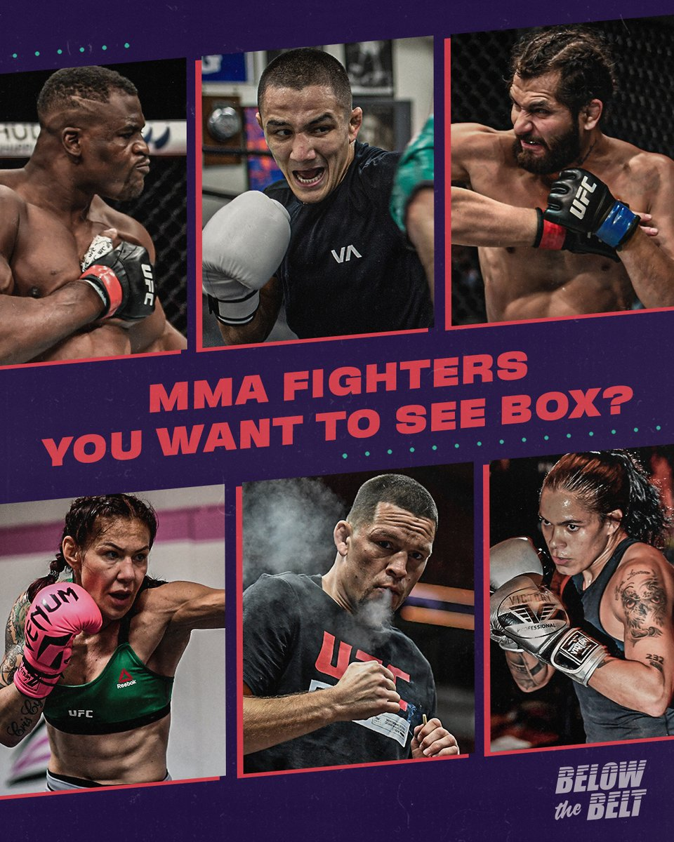 Who do you want to see make the move from the cage to the ring? https://t.co/hkZxPoeAY3