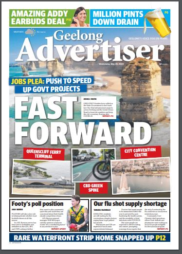 Geelong Advertiser On Twitter Good Morning Geelong Here S Today S Front Page A Top Of 16 Forecast For Today