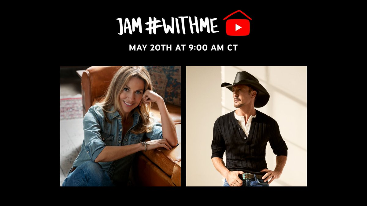 🔴 [LIVE]: @CMT and @FTFL_official have teamed up to host an all-day virtual benefit concert 💗 @SherylCrow, @TheTimMcGraw and more are kicking things off now. Jam #WithMe → yt.be/music/CMTLive