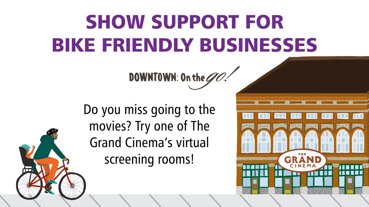 Have you checked out @GrandCinema's virtual screening rooms? #bike253